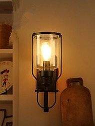 American Retro Iron Glass Wall Lamp Wall Lamp