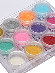 12PCS The New Import Nail Art Glitter Nail Art People Who Fish Meal 12 Color 2 g Box