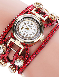 Women's Fashion Quartz Casual Watches Beautiful Diamond Bracelet Round Alloy Dial Watch Cool Watch Unique Watch