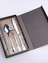 Wedding / Birthday / Christmas / Valentine Party Tableware-4Piece/Set Tableware Sets Kits Stainless Steel