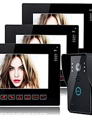 800*480 120 CMOS système sonnette Sans fil Sonnette vidéo Multifamilial