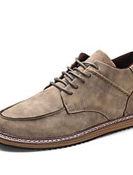 Herren-Sneaker-Lässig-PU-Flacher Absatz-Komfort-Grau Khaki