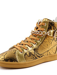 Men's Sneakers Spring / Fall Comfort Fabric Casual Flat Heel  Black / White / Gold Sneaker