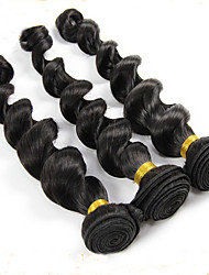 3 Pièces Ondulation Lâche Tissages de cheveux humains Cheveux Brésiliens 95-100g 12''-24'' Extensions de cheveux humains