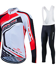 Fastcute Maillot de Cyclisme Homme Unisexe Manches Longues Vélo Veste Pantalon/Surpantalon Chemise Shirt Survêtement Anorak fleece /