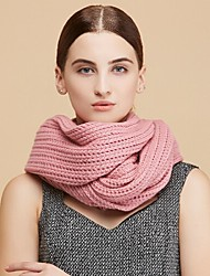 Women Acrylic ScarfCasual RectangleRed / Green / Brown / Pink / Yellow / GraySolid