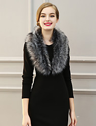 Women Fashion Faux Fur Solid Warm Scarf Party / Work / Casual
