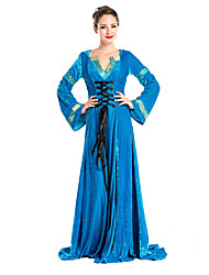 Costumes More Costumes Halloween Blue Solid Terylene Dress / More Accessories
