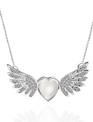 Women Couple's Choker Necklaces Pendant Necklaces Pendants Alloy Rhinestone Wings / Feather Crossover Fashion Adorable Personalized Sexy