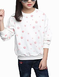 Girl's Casual/Daily Print TeeCotton Spring / Fall Pink / White