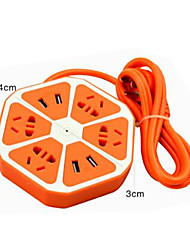 Verkabelt Smart usb socket Orange