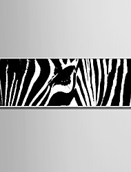 E-HOME® Framed Canvas Art, Black And White Zebra Stripes Framed Canvas Print One Pcs