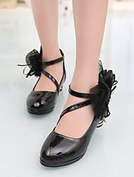 Tacón Robusto-Light Up Zapatos-Zapatos de taco bajo y Slip-Ons-Vestido-PU-Negro Rojo Blanco