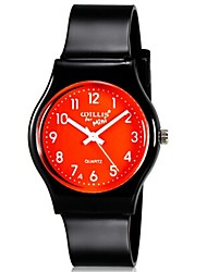 Kids' Wrist watch Colorful Quartz Plastic Band Candy color Casual Cool Black