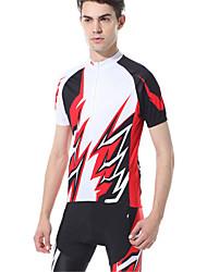 Спорт Велокофты и велошорты Муж. Короткие рукава Велоспорт Дышащий / Удобный / Защита от солнечных лучей / Сжатие видеоизображенийНаборы
