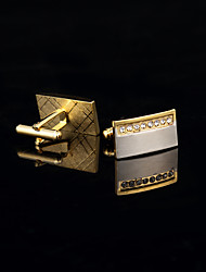 Personalized Gold Plated Cufflinks Groomsman Gifts Golden Cuff Buttons With Gift Box Cufflink Men's Jewelry