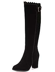 Feminino-Botas-Inovador Botas de Cowboy Botas de Neve Botas Montaria Botas da Moda-Salto Grosso Salto de bloco--Sintético Couro