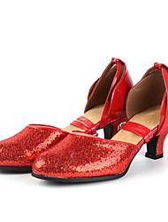 Non Customizable Women's Dance Shoes Latin / Dance Sneakers Sneakers Chunky Heel Practice / OutdoorBlack