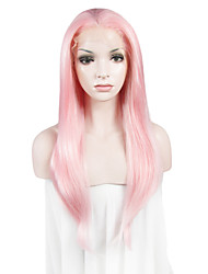 IMSTYLE 24On Sale Beautiful Fashion Long Natural Straight Synthetic Lace Front Wigs Drag Queen