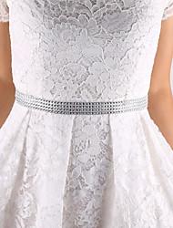 Satin Hochzeit / Party / Abend / Alltagskleidung Schärpe-Applikationen Damen 250cm Applikationen