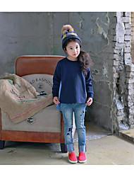 Tee-shirts Fille de Rayé Décontracté / Quotidien Coton Printemps / Automne Bleu