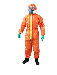 Chemical Spray Painting Isolated Nuclear Radiation Protective Clothing Overalls Size XL