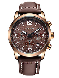OCHSTIN  Men's Multi-function Sport Wrist Watches Genuine Leather Strap Watch Fashion Casual Luminous Calendar relogio