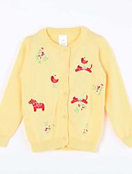 Mädchen Pullover & Cardigan-Lässig/Alltäglich Druck Baumwolle Herbst Gelb