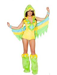 Costumes Plus de costumes Halloween Vert Couleur Pleine Térylène Robe / Plus d'accessoires