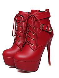 Feminino-Botas-Sapatos clube Light Up Shoes-Salto Agulha-Preto Vermelho Branco-Courino Couro Ecológico-Ar-Livre Social Casual