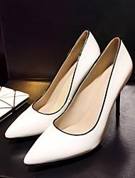 Черный / Белый-Женский-На каждый день-Кожа-На шпильке-На платформе-Обувь на каблуках