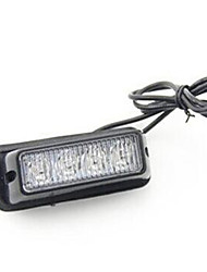 08002 12V Highlight 4 LED Car Side Light 4 LED Strobe Grille Lights Strobe Power 4LED