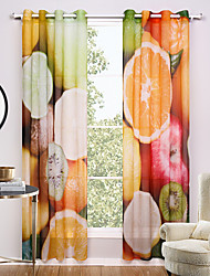 Two Panels Modern Distinctive Living Room Polyester Sheer Curtains Shades 140cm Per Panel