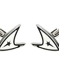 Cufflinks 2pcsSolid Silver Fashionable Cufflink Men's Jewelry