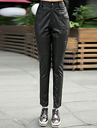Genuine Lambskin Leather Sexy Trouser for Women Genuien Leather Pant 5519