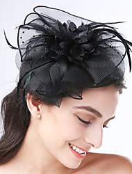 Women's Feather / Net Headpiece-Wedding / Special Occasion / Casual Headbands 1 Piece