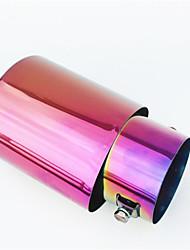 colorido escape garganta cauda automóvel modificado silenciador em aço inoxidável