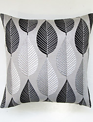 Geometric Jacquard Cushion Cover-BLACK