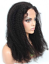 """Full Lace Wigs Unprocessed Brazilian Virgin 100% Human Hair Natural Color  Afro Kinky Curly  14""""-18"""""""