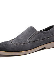 Men's Loafers & Slip-Ons Comfort Leather / Suede Office & Career / Casual Flat Heel Slip-onBlack / Gray /