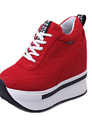 Women's Sneakers Spring / Summer / Fall Comfort Leatherette Outdoor / Athletic Wedge Heel Lace-up  Fitness & Cross