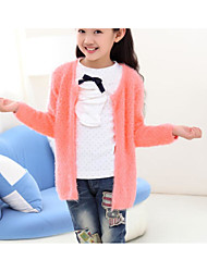 Girl's Casual/Daily Solid Sweater & CardiganWool Winter / Spring / Fall Pink / Red / Yellow