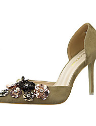 Women's Heels Summer Heels Fleece Casual Stiletto Heel Others Black / Pink / Red / Gray / Fuchsia / Khaki Others