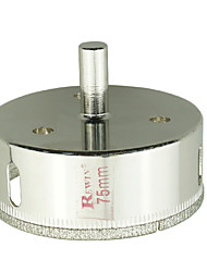 Rewin nástroj legovaných ocelí skleněné otvory otvírák díra velikosti 75mm 2ks / box