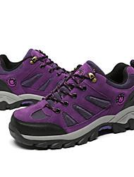 Da donna-scarpe da ginnastica-Tempo libero Sportivo-Comoda-Piatto-Finta pelle-Viola Rosso