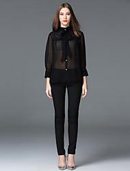 FRMZ  Women's Solid Black Skinny PantsSimple