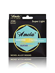 Amola  ET200 009-042 NANOWEB NICKEL ALLOY WOUND Ulra Thin Coating With ANTI-RUST Plain Steels Electric Guitar Strings