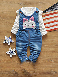 Girl's Casual/Daily Solid Jeans / Clothing SetCotton Spring / Fall White