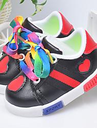 Jungen-Sneaker-Lässig-PU-Flacher AbsatzSchwarz Rot Weiß