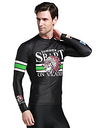 Long Sleeve UV Protection Rash Guard Surfing Tops Swimwear Men Diving Snorkeling Swim Shirt Beach Wear